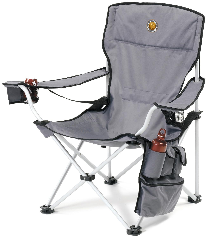 Grand Canyon VIP Sedia pieghevole da campeggio in alluminio grigio nero Amazon Sport e tempo libero