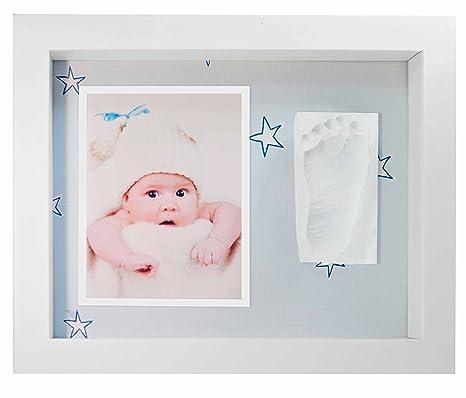Marco de Fotos para Bebé - 3D Marco de Huellas para Niños - Regalos para Bebé