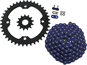 2008-2013 Kawasaki KFX450R KFX450 Blue Chain and Sprocket 15//38