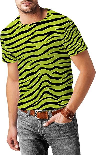 Queen of Cases Zebra Print - Camiseta Deportiva de Malla para Hombre (Talla XL), Color Verde: Amazon.es: Ropa y accesorios