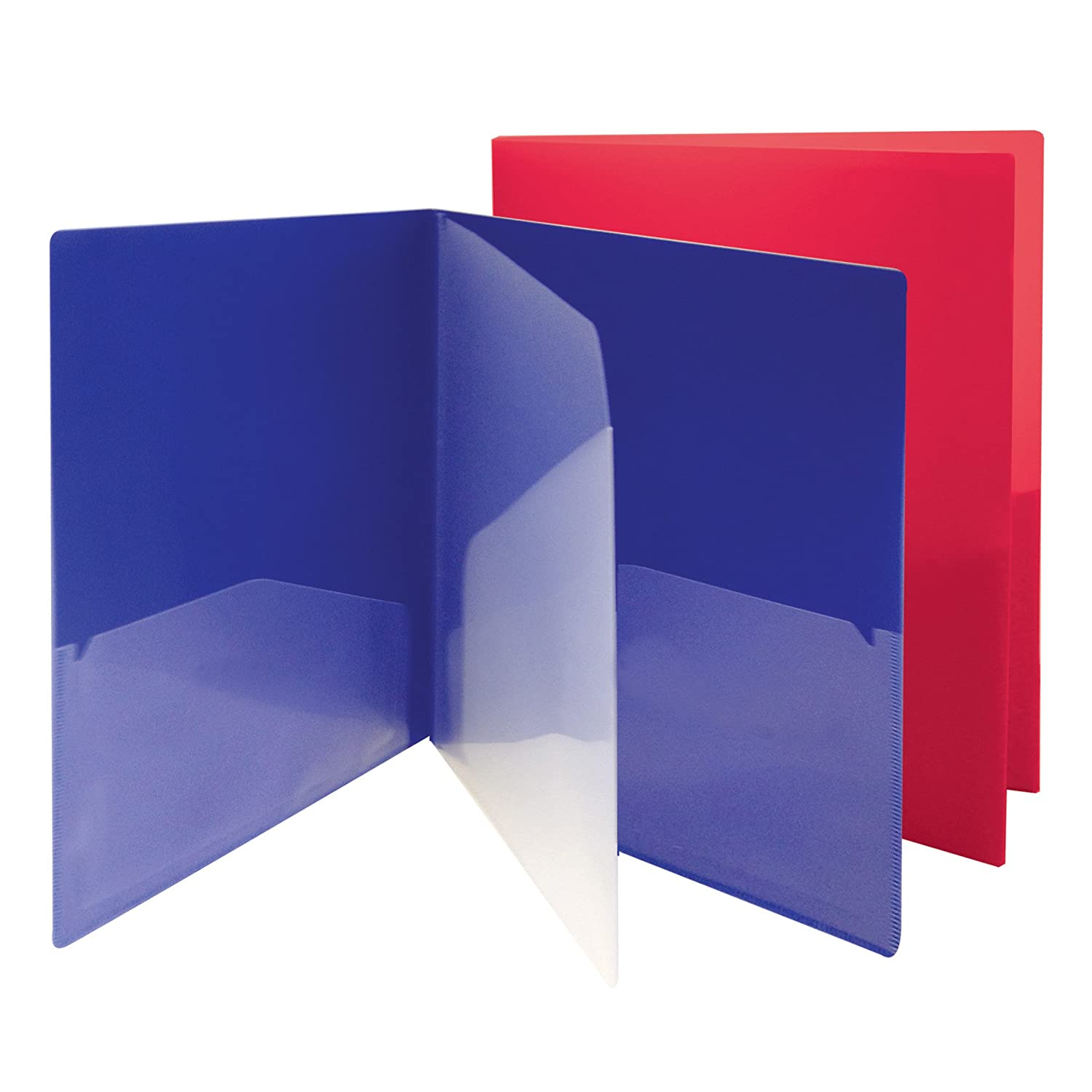 Smead Campus.org Poly Subject Folder, 4 Pockets, Letter Size, Assorted Colors (87712)