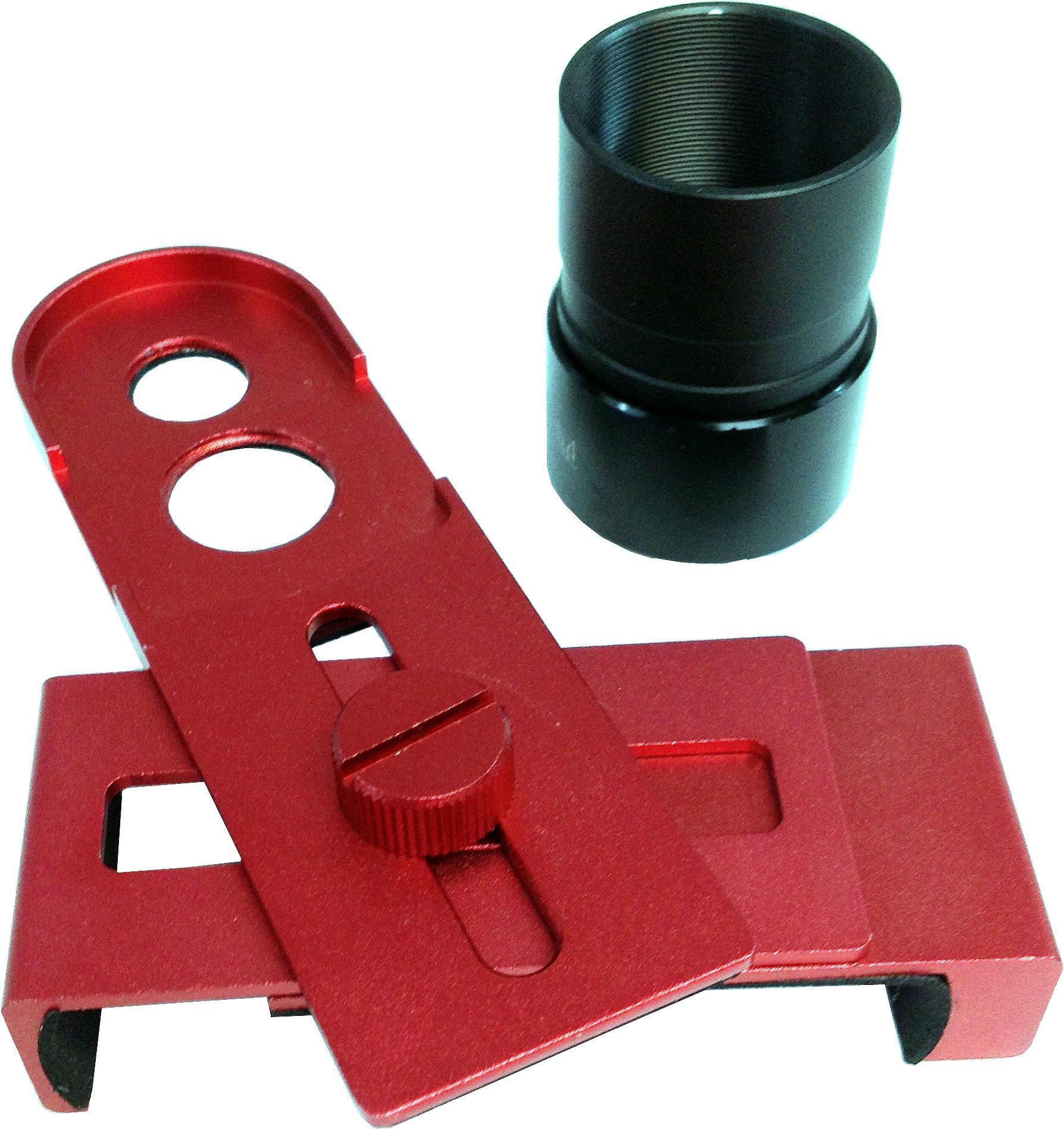 iOptron 8432 Universal Smartphone Eyepiece Adaptor (Red) by iOptron