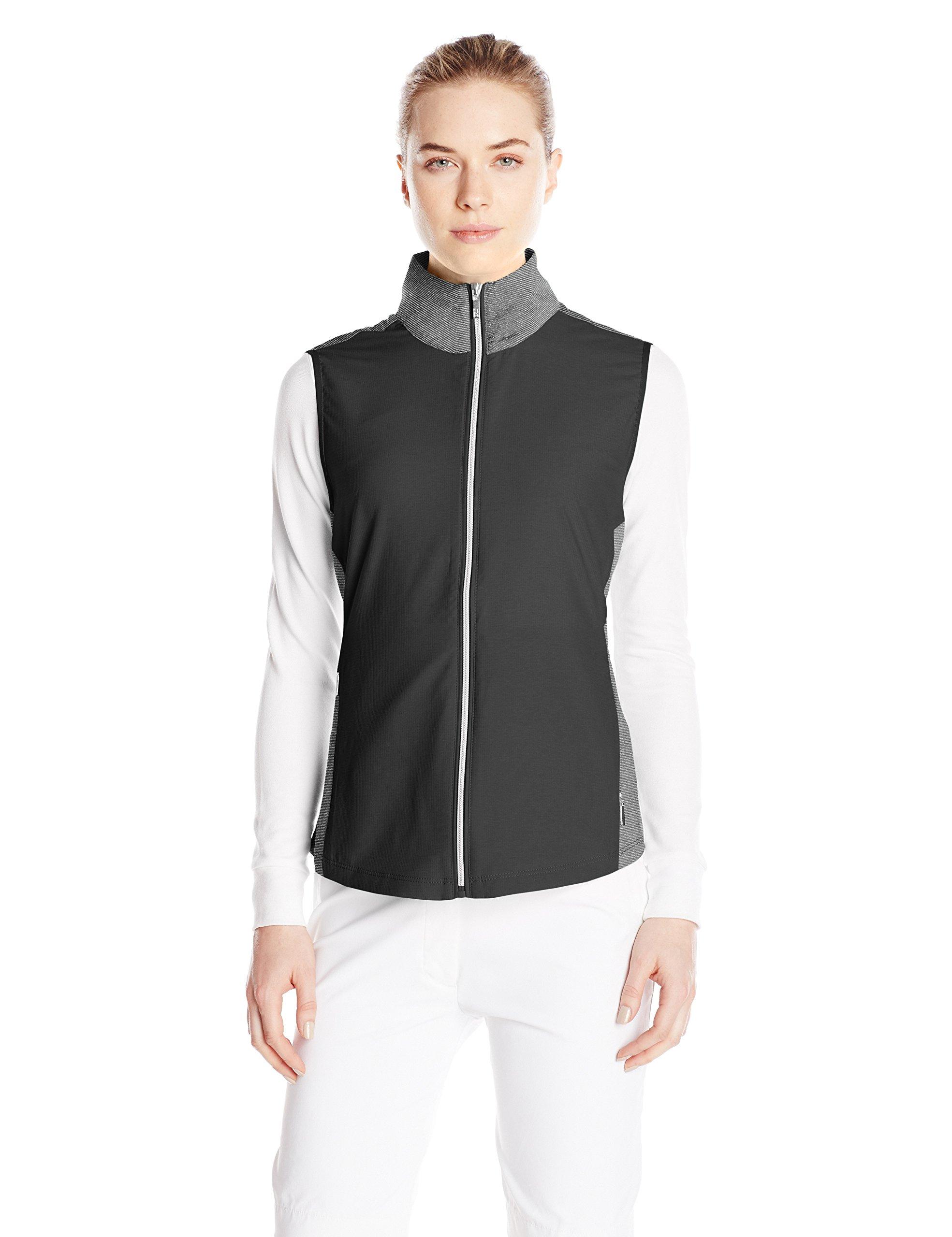 Cutter & Buck Women's CB Weathertec Laura Hybrid Vest, Black, X-Small