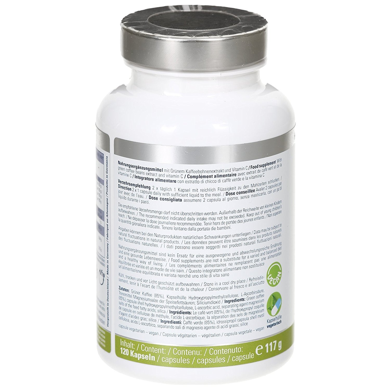 GREEN COFFEE DAILY Extracto de Grano de Café Verde - 120 cápsulas 1.650 mg diario: Amazon.es: Salud y cuidado personal