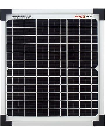 Módulo de panel solar monocristalino de enjoysolar®, 10 vatios, 12 V, ideal