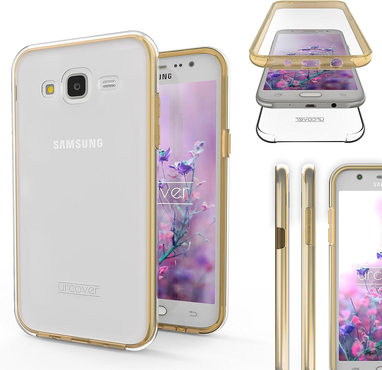 Urcover Funda Compatible con Samsung Galaxy J5 2015, Carcasa Mejorada Cover 360 Grados, edicion Dura, Case Crystal Clear Transparente: Amazon.es: Electrónica