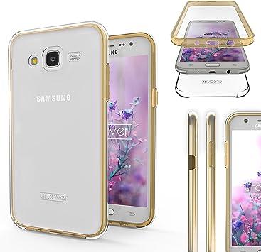 Urcover Funda Compatible con Samsung Galaxy J5 2015 Carcasa Mejorada Cover 360 Grados, edicion Dura, Carga inalámbrica Qi, Case Transparente Crystal Clear: Amazon.es: Electrónica