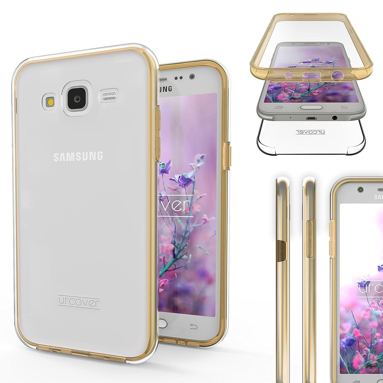 Urcover Funda Compatible con Samsung Galaxy J5 2015 Carcasa Mejorada Cover 360 Grados, edicion Dura, Carga inalámbrica Qi, Case Transparente Crystal ...