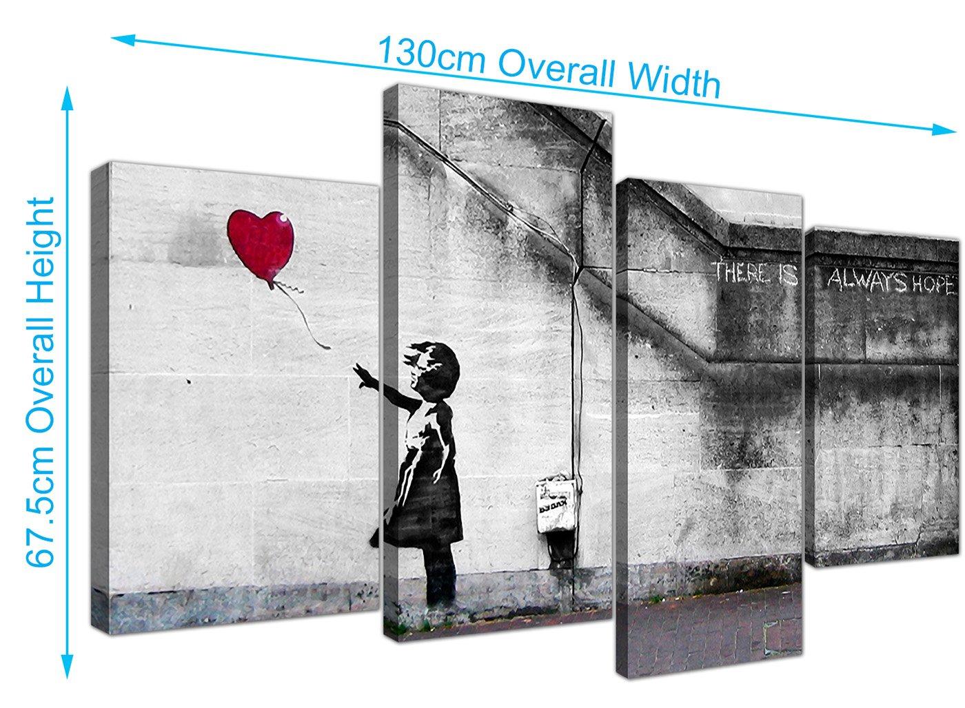 Wallfillers Extra Grande Banksy lienzo (130 cm), diseño del chica ...