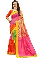 Glory Sarees Women's Silk Cotton Saree(zarna05_pink)