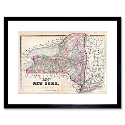 photo regarding Printable Maps of New York State titled : 1873 Beers MAP Refreshing York Nation Traditional Framed Artwork