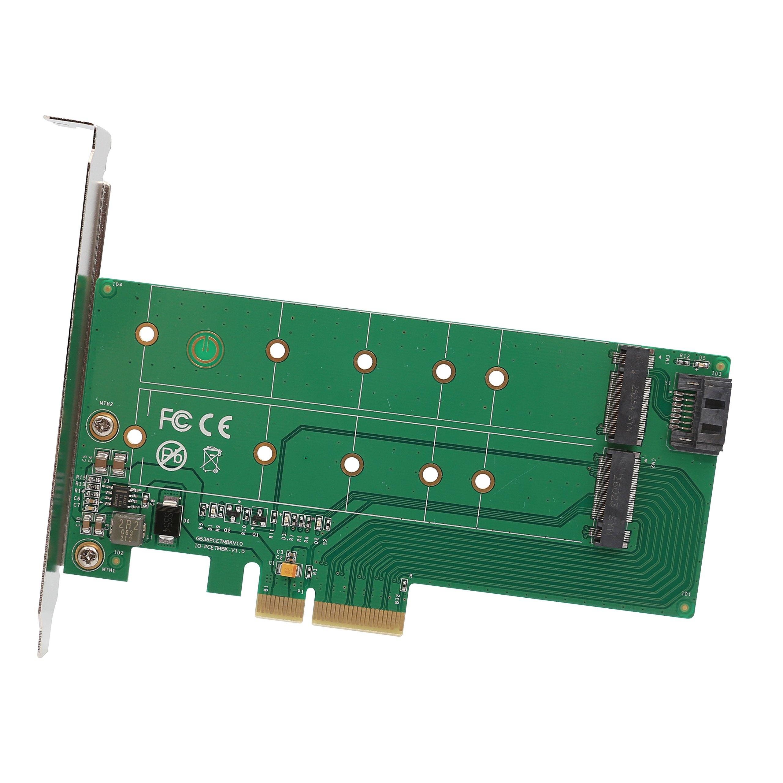 PCI-Express 2.0 x4, 1x M.2 M-Key 1x M.2 B-Key Card(SI-PEX40122)