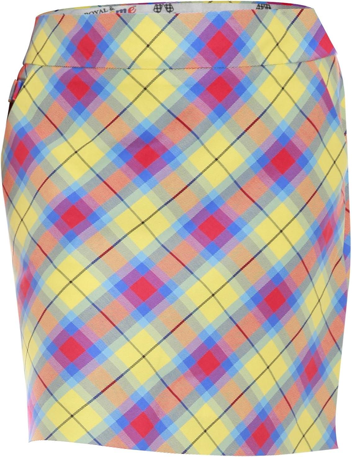 Royal & Awesome Plaid Awesome - Falda-pantalón de Golf para Mujer ...