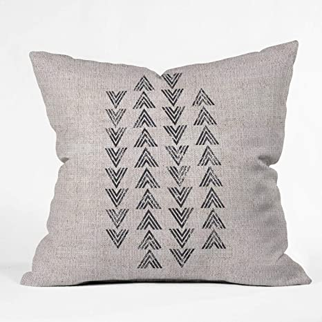 Deny Designs Holli Zollinger French Linen Tri Arrow Indoor Throw Pillow 18 X 18 Amazon Ca Home Kitchen