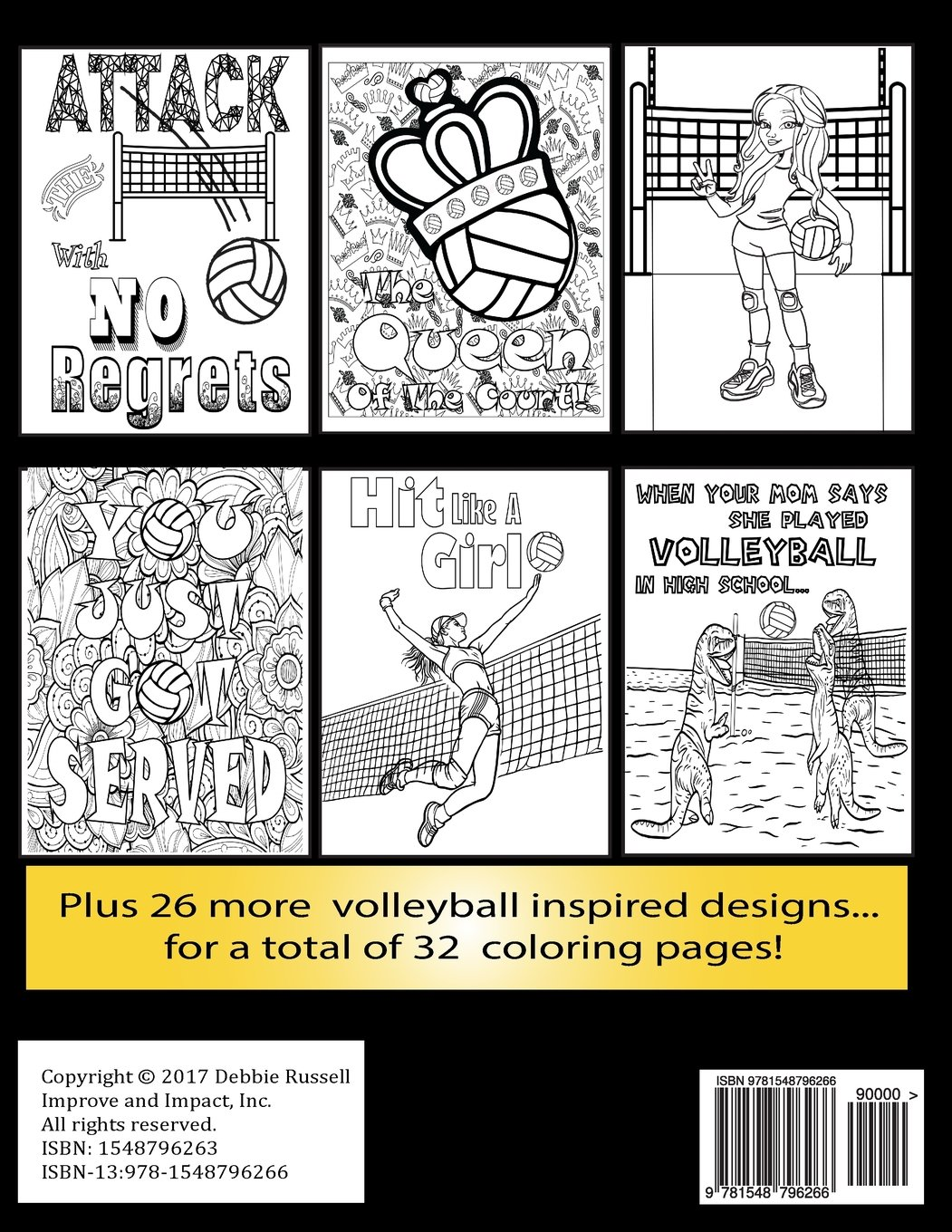 The Big Volleyball Coloring Book An Amazing Volleyball Coloring