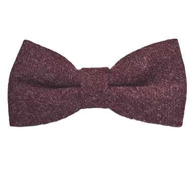 45edbad20b74 Luxury Burgundy Donegal Tweed Bow Tie: Amazon.co.uk: Clothing