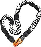 Kryptonite Evolution Series 4 1016 Integrated Chain Lock Black/Orange, 160cm
