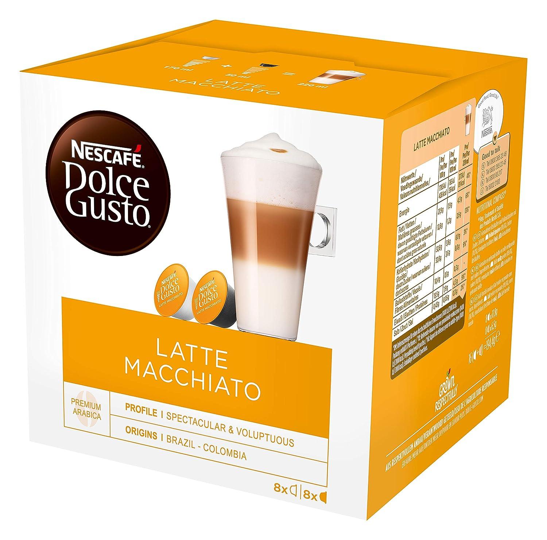 NESCAFÉ Dolce Gusto Café Latte Macchiato, Pack de 3x16 Cápsulas - Total: 48 Cápsulas de Café: Amazon.es: Alimentación y bebidas
