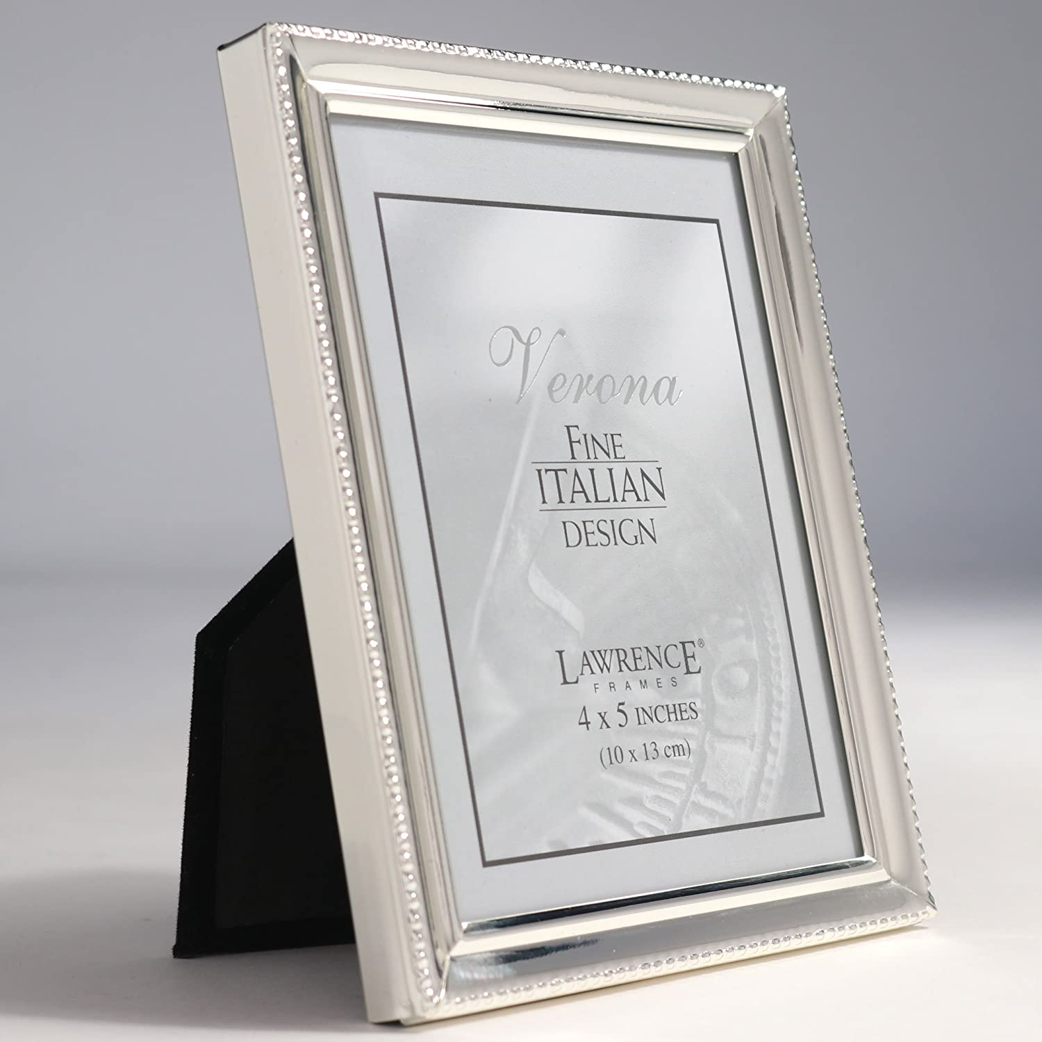 Amazon.com - Lawrence Frames Polished Silver Plate 4x5 Picture Frame ...