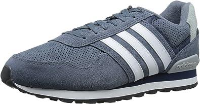 Adidas Neo Runeo 10k Zapatilla de Deporte de Moda, Plomo/Blanco/colegiata Armada, 8 M US: Amazon.es: Zapatos y complementos