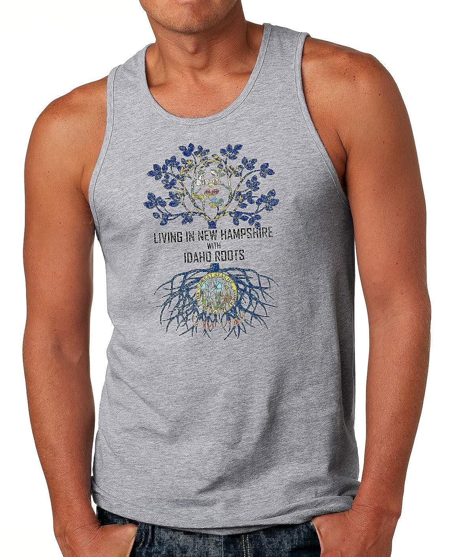 Tenacitee Mens Living in Hampshire Idaho Roots T-Shirt