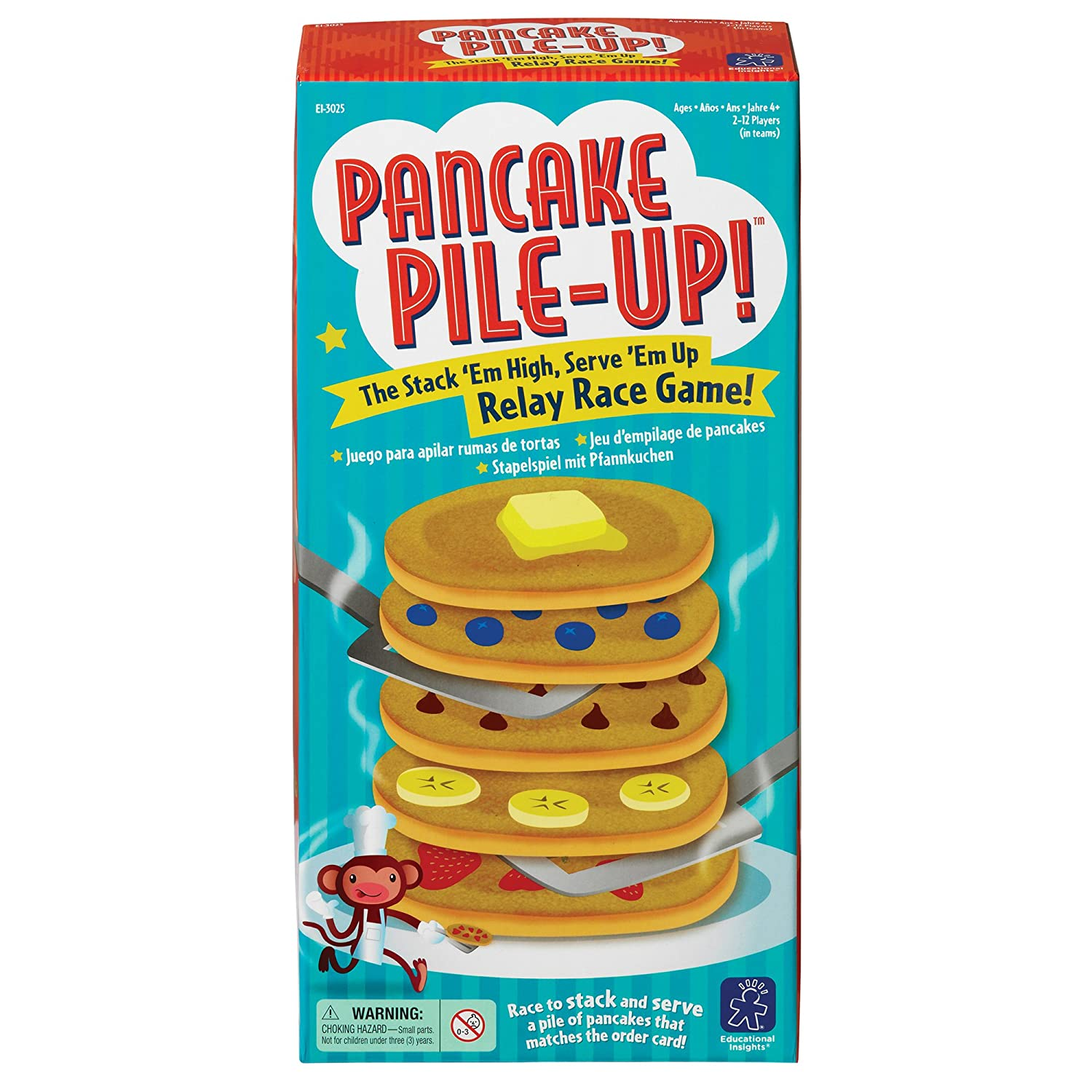 Amazon.com: Educational Insights Pancake Pile-Up! Relay Game: Toys ...