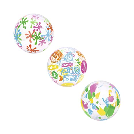 Bestway 31000 Pelota Hinchable Decorada, Multi, Transparente ...
