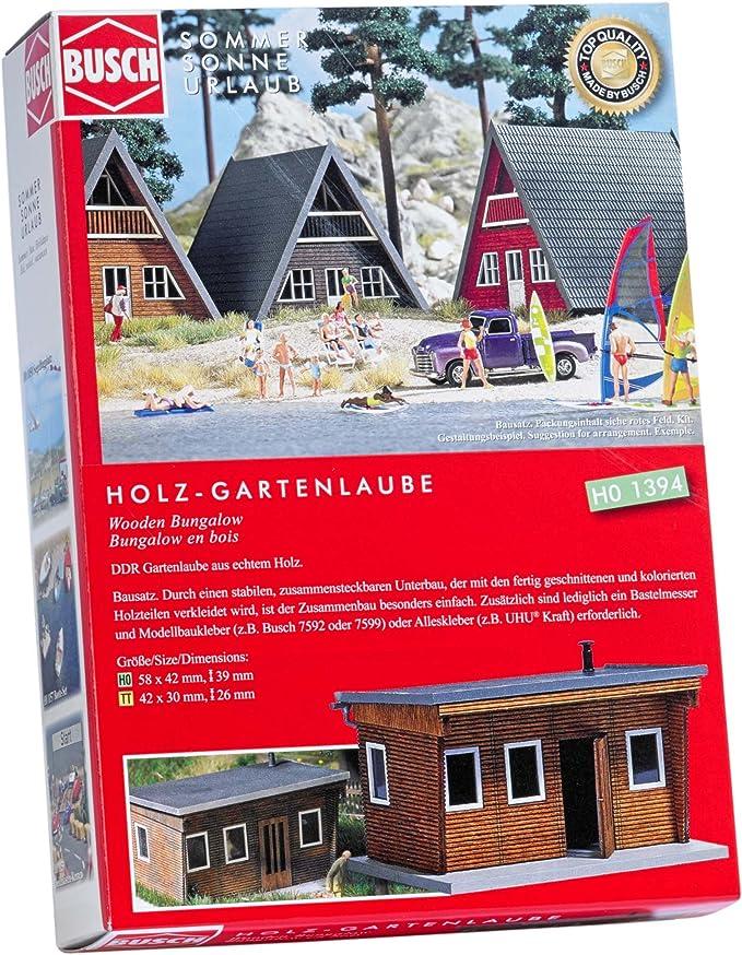 Busch 1394-1//87 Neu H0 Holz-Gartenlaube
