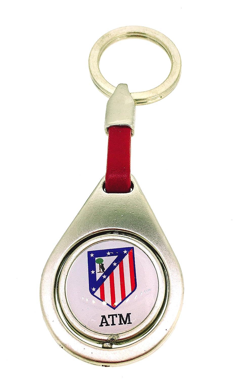 Gemelolandia Llavero Atlético de Madrid Redondo Color Producto Oficial
