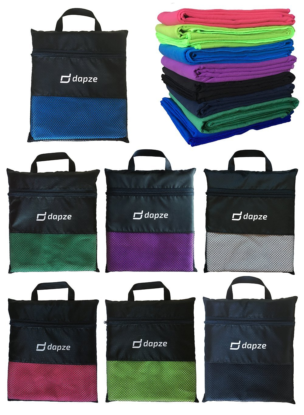 Microfibre Towel & Travel Towel with carry Bag - ultra-absorbent light & soft - Perfect for sports, fitness, outdoors, travel, beach, gym, yoga, pilates, bikram, swim, camping, hiking, backpacking, holidays and home. 10 colors (Pink)