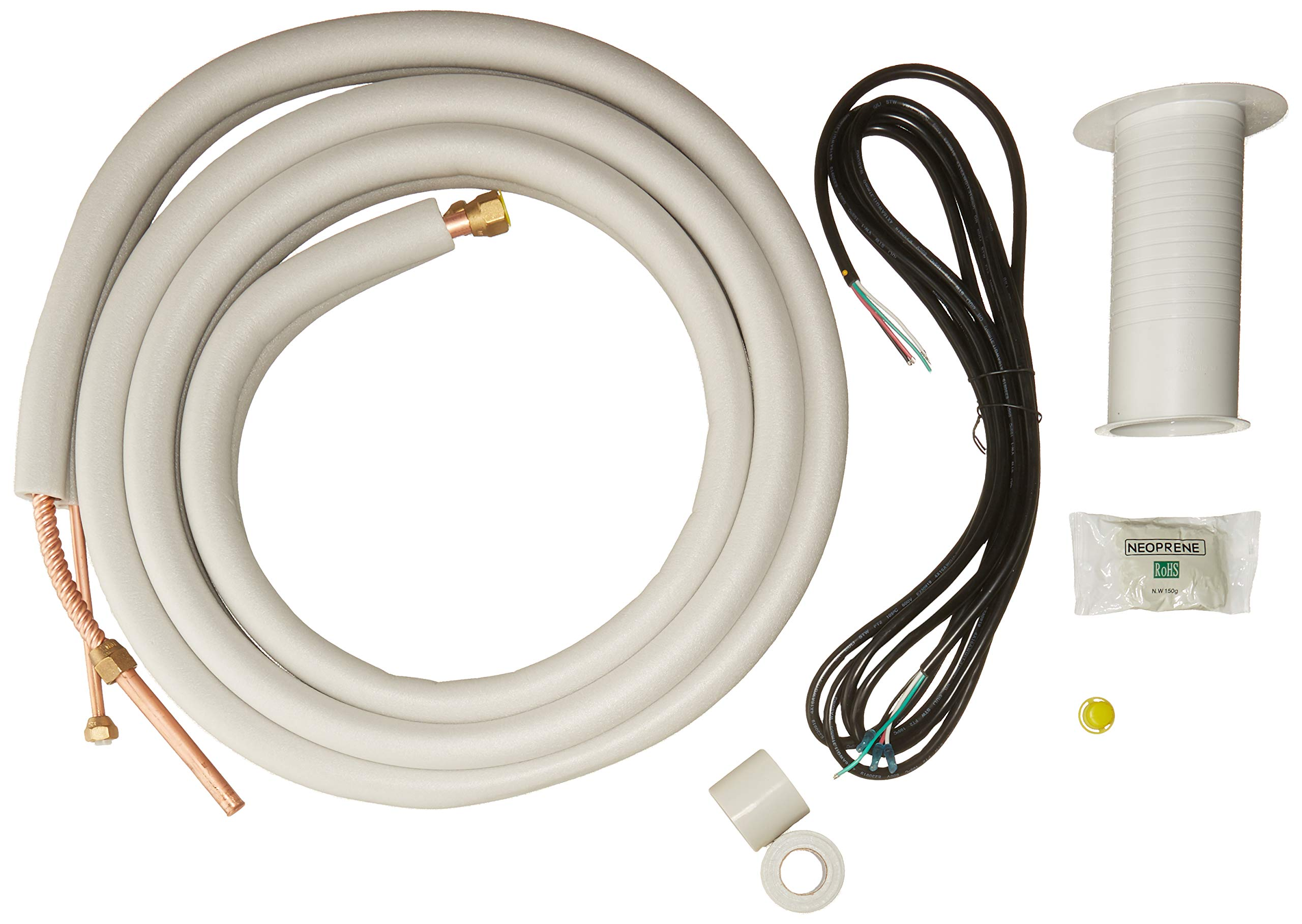 Senville 16' Insulated Copper Pipes for Air Conditioning - 3/8'' & 5/8'' OD by Senville