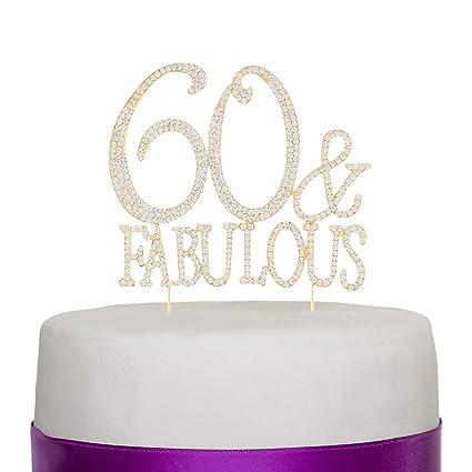 Decoración para tartas de 60 cumpleaños, diseño fabuloso ...