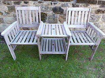 UK-Jardins Heavy Duty gris de jardin en bois amour Banc de siège ...