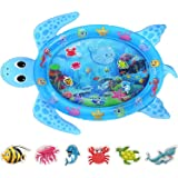 MAGIFIRE Tummy Time Baby Water Mat Infant Inflatable Play Mat for 3 6 9 Months Newborn Boy Girl Sea Turtle Shape