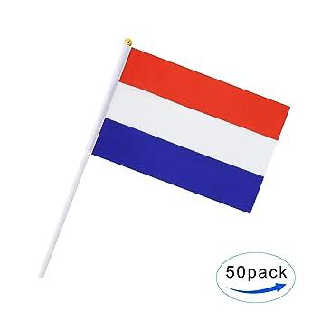 amazon com hand held netherlands flag dutch flag stick flag mini