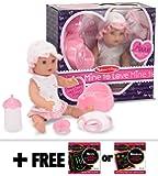 "Annie ~12"" Drink and Wet Doll: Mine to Love Doll Series + FREE Melissa & Doug Scratch Art Mini-Pad Bundle"