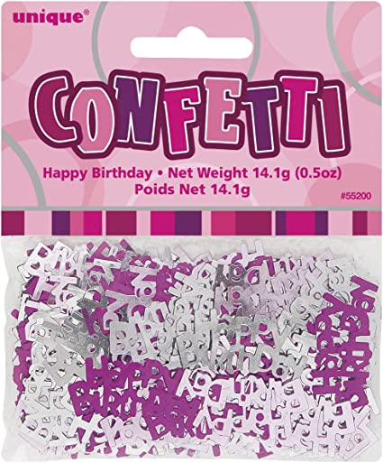 3 x Bags Pink or Blue 70th Happy Birthday Party Table Foil Confetti 14g Pack