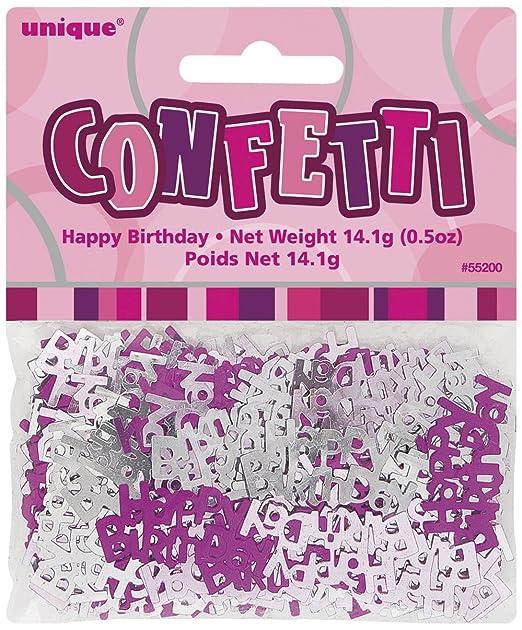 24 opinioni per Unique Party 55200 Coriandoli in Foil Happy Birthday , Rosa Brillante