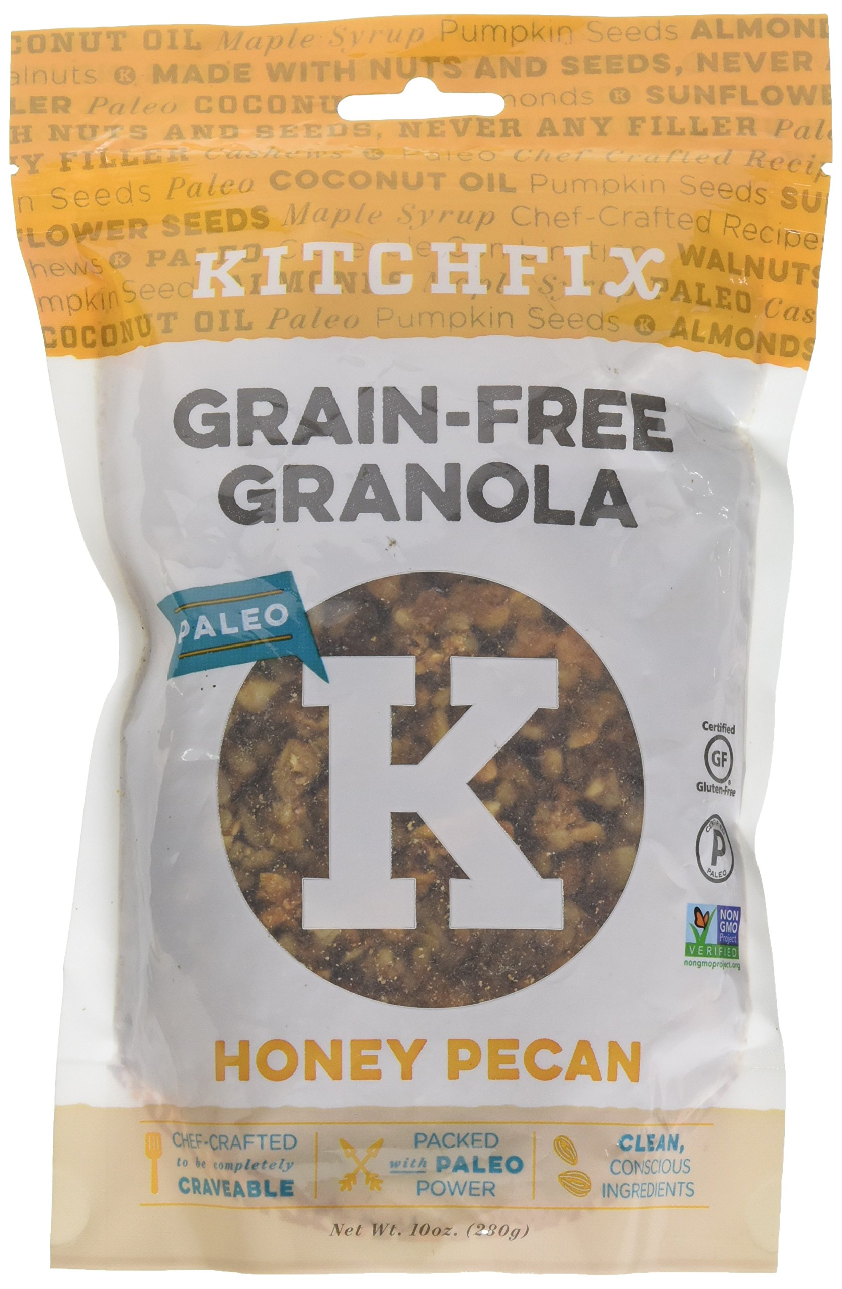 Kitchfix Granola, Honey Pecan, 10 Oz
