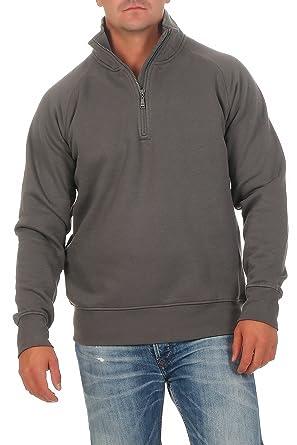 Happy Clothing Herren Pullover Halber Reißverschluss Ohne Kapuze   Amazon.de  Bekleidung ce68fb8c7e