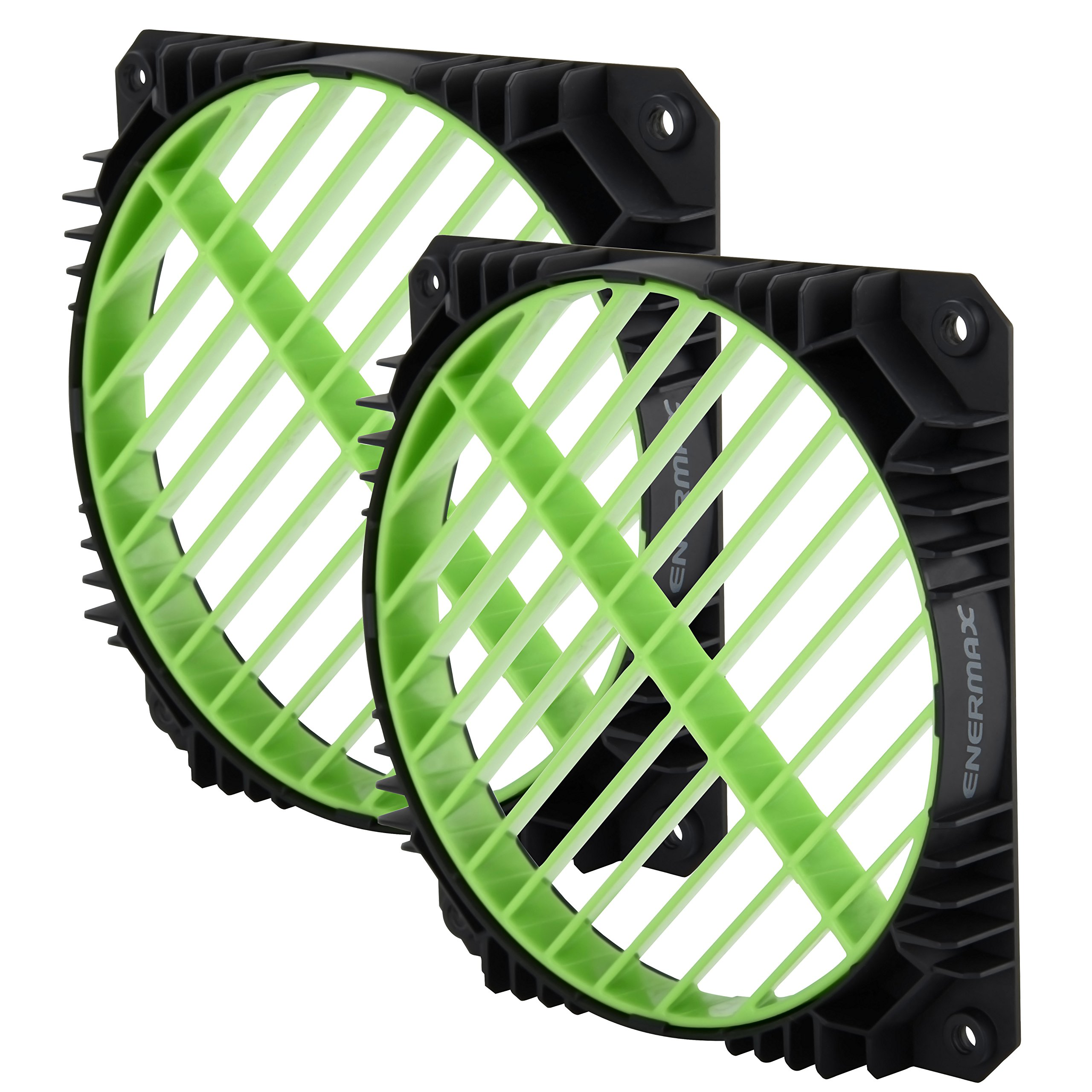 Enermax Air Guide 360° Rotatable Fan Grill, Solution to Airflow Management Twin Pack Green, EAG001-G by Enermax (Image #1)
