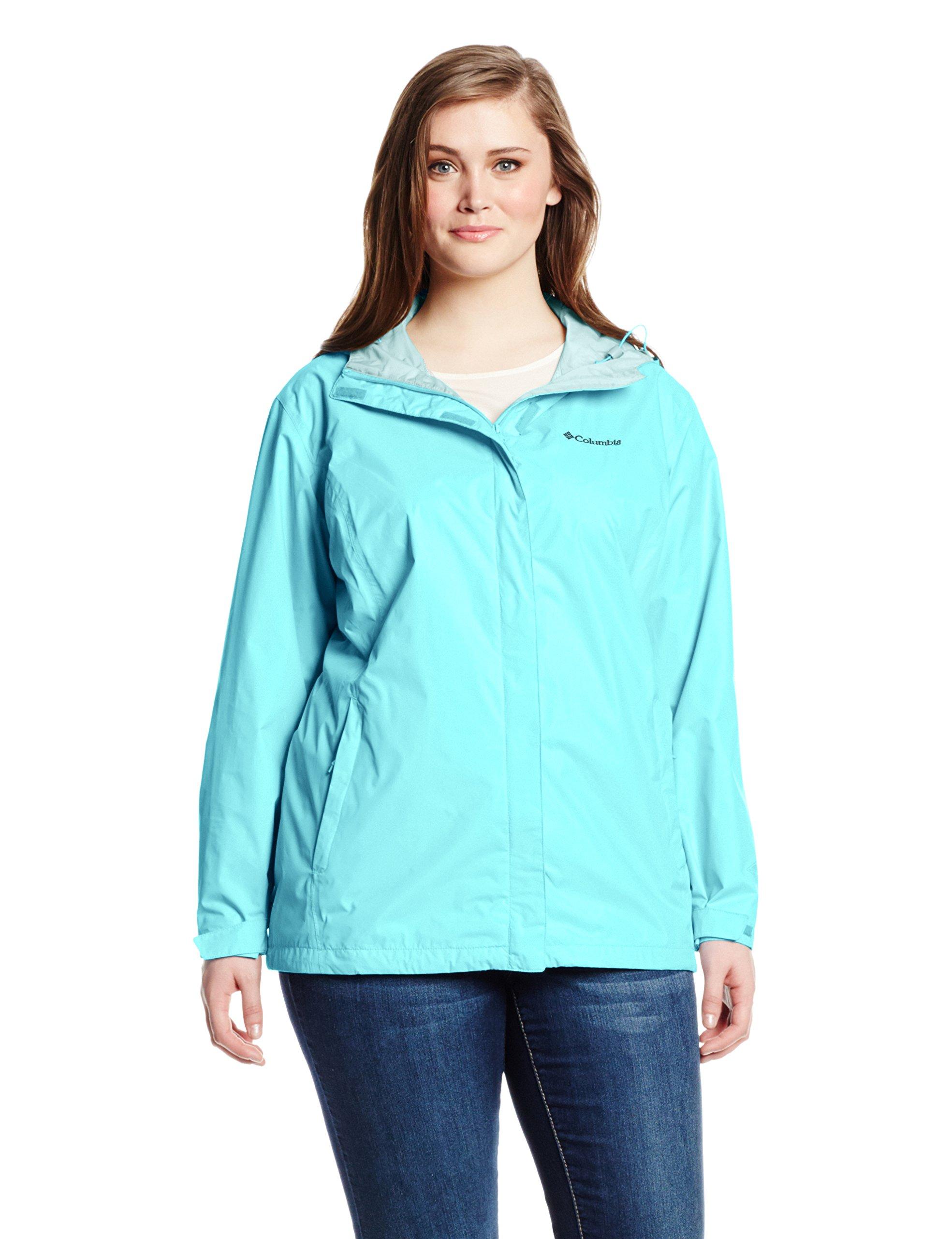 Columbia Women's Plus Size Big Arcadia II Jacket, Iceberg, 2X