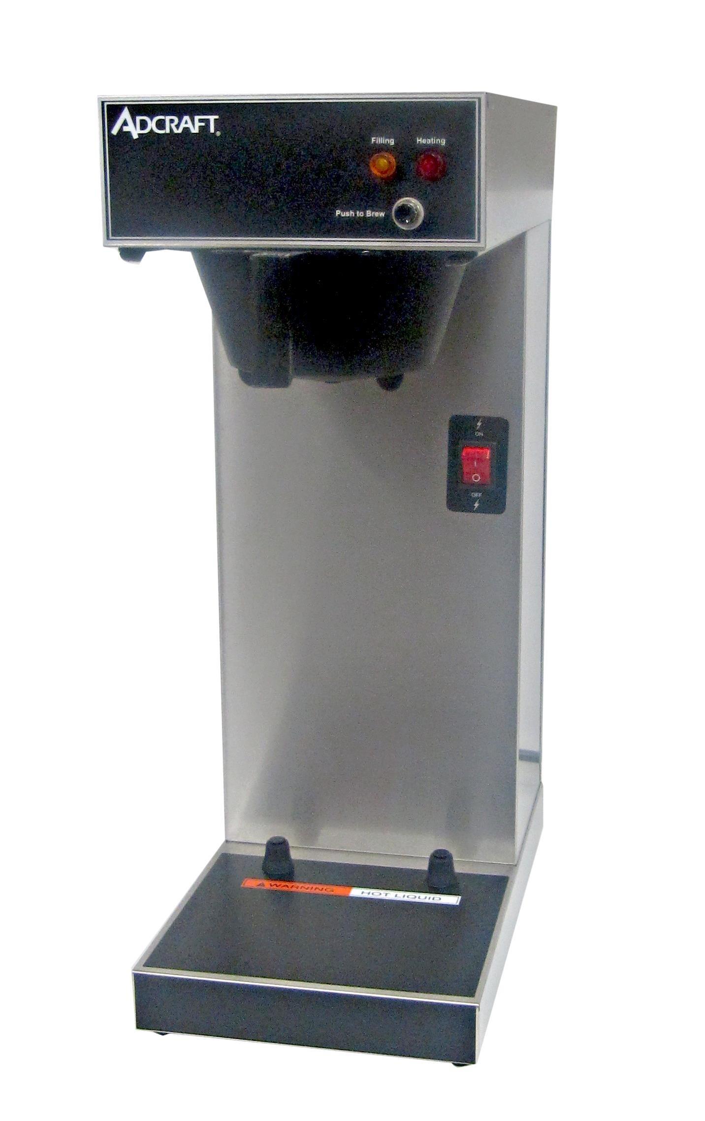 Adcraft UB-289 Airpot Coffee Brewer, Stainless Steel, 120-Volt