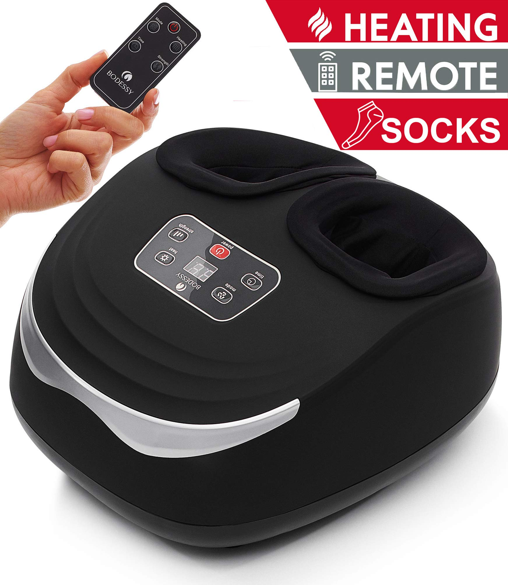 Shiatsu Foot Massager Machine with Heat - Electric Feet Massager Plantar Fasciitis Air Compression Deep Kneading Foot Massages for Neuropathy Muscle Relief Nerve Pain Therapy Spa