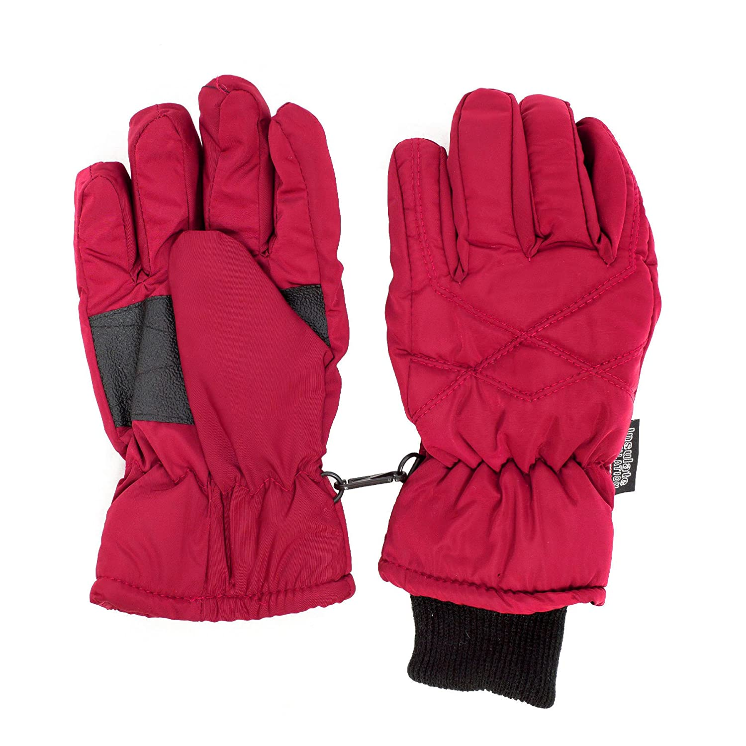 SANREMO Unisex Kids Thinsulate and Waterproof Cold Weather Ski Gloves Rose) 9367-$P