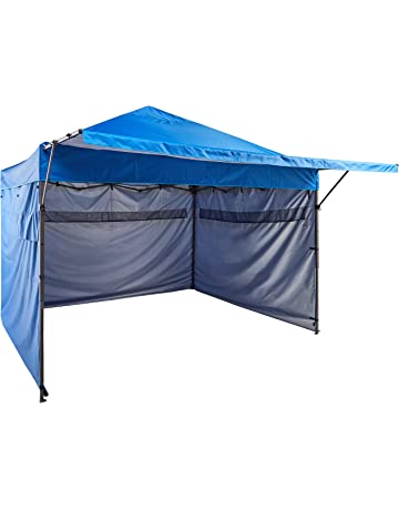 AmazonBasics - Carpa pop-up con paredes laterales, 3 x 3 m, azul