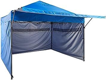 AmazonBasics - Carpa pop-up con paredes laterales, 3 x 3 m, azul: Amazon.es: Jardín