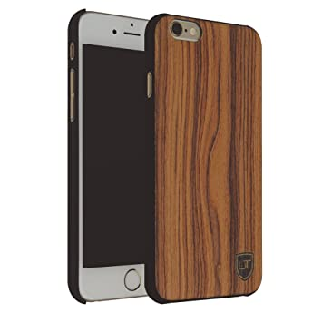 buy online 349b9 972b0 iPhone 6 Plus / 6s Plus Wood Case Cover ** Eco Real Wood - Ultra-Slim **  Unique Desgin ** Perfect Fit ** Wooden Skin Bumper by UTECTION® Walnut