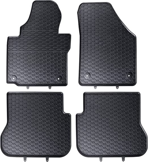 Dapa Prime Gummimatten Für Caddy 3 Auto Matten Gummifußmatten Fahrzeugmatten Gummi Fußmatten Auto
