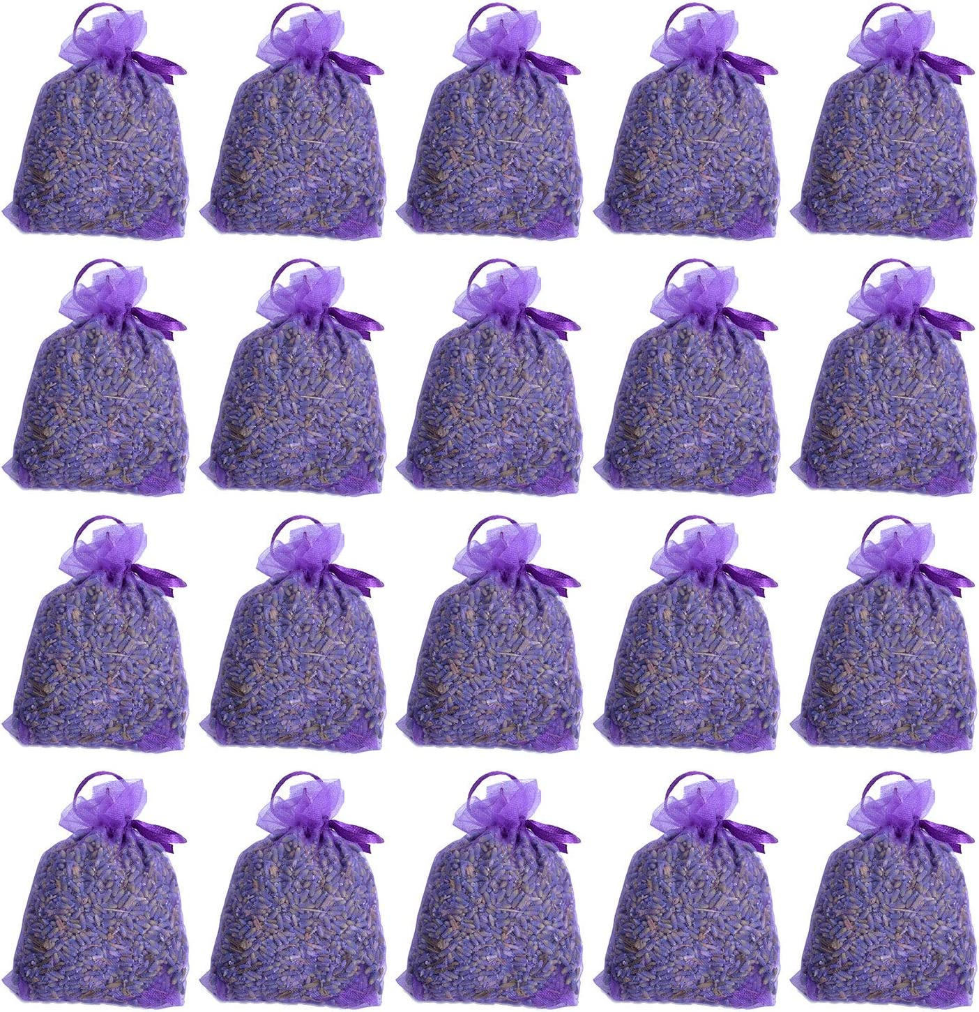 RENM 0.62lb Lavender Sachets for Closets, 20 Pack Lavender Bud Organic Dried Flower, Dried Lavender Buds Lavender Sachet for Drawers and Closets